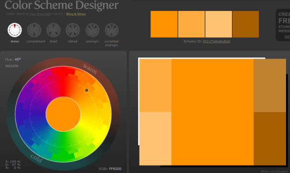 color scheme homepage