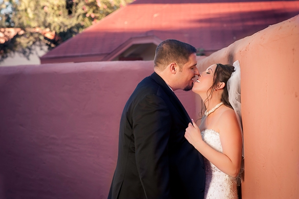 Bride; groom; kiss